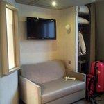 Sofa set with flat screen tv