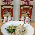 Irish chicken supreme, topped with shallots, mushrooms and an Irish whiskey cream sauce