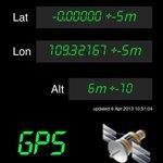 GPS reading at new milestone