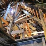 Original wooden hoisting wheel