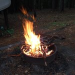 fire pit outside the yurt