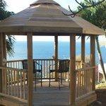 Gazebo overlooking Caribbean