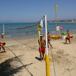 you can play volleyball  with 1-2  members of the staff, whom organize the games every AM and PM