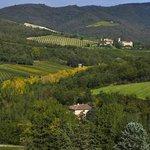Gaiole panorama dal castello di Meleto
