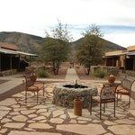 center patio area