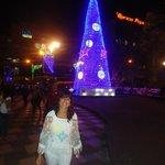 Con ornamentación de Navidad