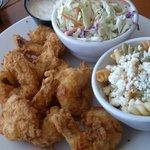 Folly Shrimp w/ cole slaw and pasta salad