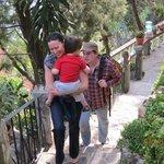 Climbing the Many Steps at Casa Del Mundo to Room 12