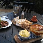 first lunch outside in April 2013