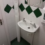 Punctured ducting - venting stench into your toilet.