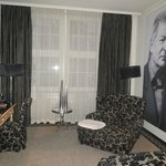 Our room, with Werner Schneyder portrait