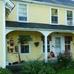 the inn side porch