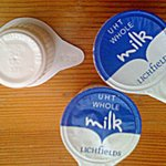 Out of date (Feb 2013) milk supplied.