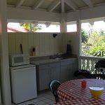 Outdoor kitchen gazebo