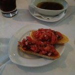 This is Bruschetta is served to you while you wait. Very Tasty!