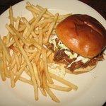 Pulled pork burger; good fries