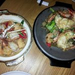 Scallops and Prawns in Oyster Sauce / Lime Lobster and Prawns