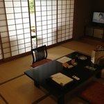 Japanese room with tatami floor