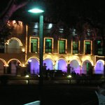 Valladolid Square at night