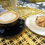 Latte and thick Oatmeal cookie