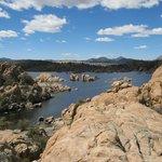 Watson Lake amongst the rocks - beautiful!