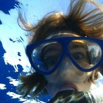 My 13-year-old having fun with the underwater camera