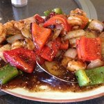 Shrimp with Black Bean Sauce (lunch special)