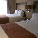 Our room with two double beds