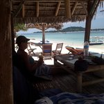 Gili Memo for lunch looking back at Gili T