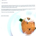 The power outage apology cookies they sent up