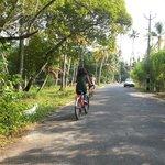 Exploring Village on bicycle ...