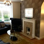 The cottage lounge area