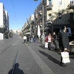 Yafo Road vor dem Hotel