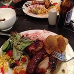 chicken thighs and sausage at Tropeiro