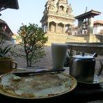 breakfast outside the restaurant