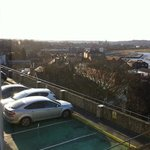 view of car park from window