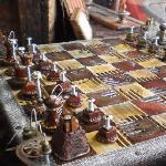 Steampunk industrial chessboard