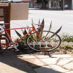 Bike parking in easy view