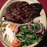 Rib Eye Steak Main Meal with side salad & coleslaw