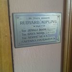 Plaque in Kipling's Study