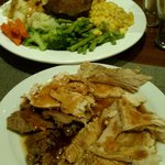 This was the Carver Special, on Sunday night. Two full plates.