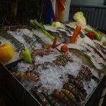Frischfischauswahl im Restaurant
