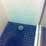 front of shower floor