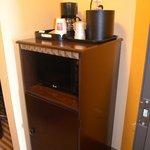 Coffee, Microwave & Refrigerator