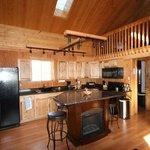 The living room of Logan's lodge