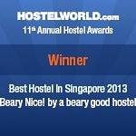 We won! Singapore's Best Hostel 2013 award =)
