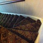 Último tramo de escaleras.