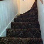 Ultimo tramo de escaleras.