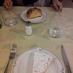 Desert: Torta della Nonna (front) and ?