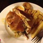 The burger that my sister enjoyed.